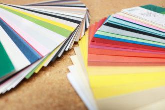 Auswahl an Papiersorten für den Digitaldruck
