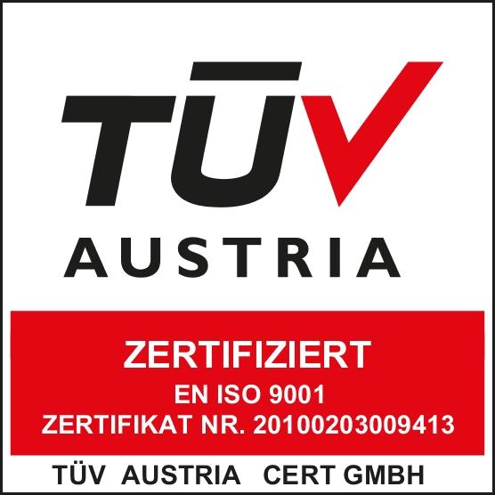 Scharlau Qualitätsmanagement von der TÜV Austria nach EN ISO-9001 zertifiziert